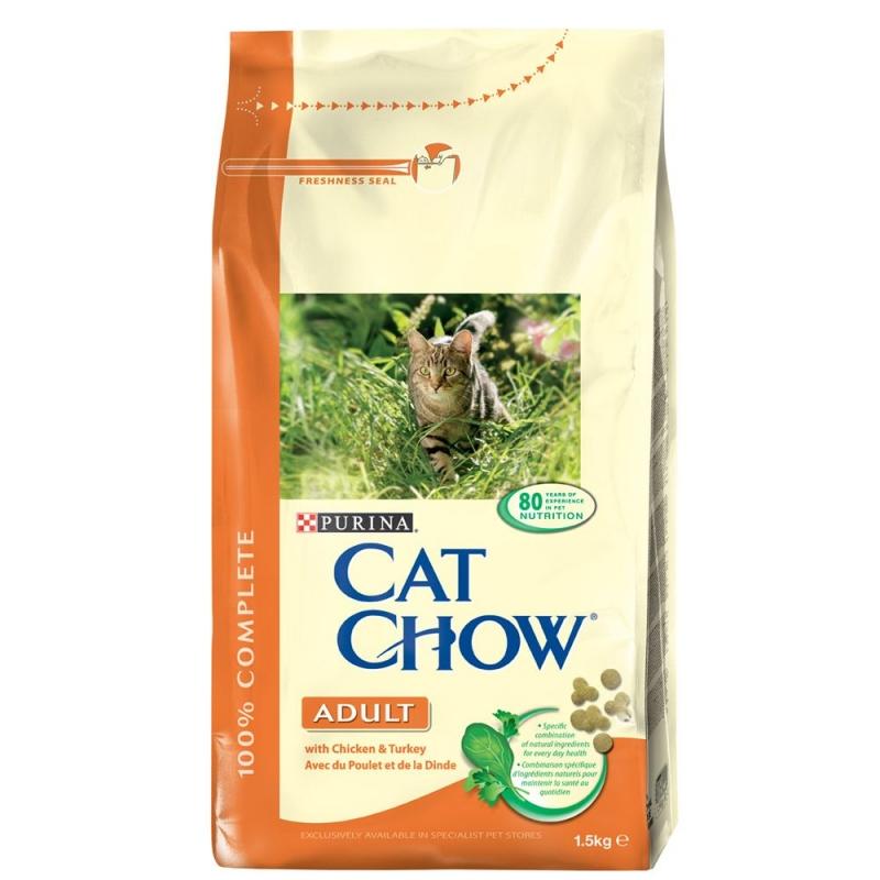Cat Chow adult, csirkehúsos cicatáp SAJÁT kiszerelésben 1 kg