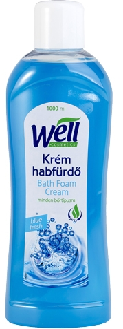 Well krém habfürdő Blue fresh illat 1000ml