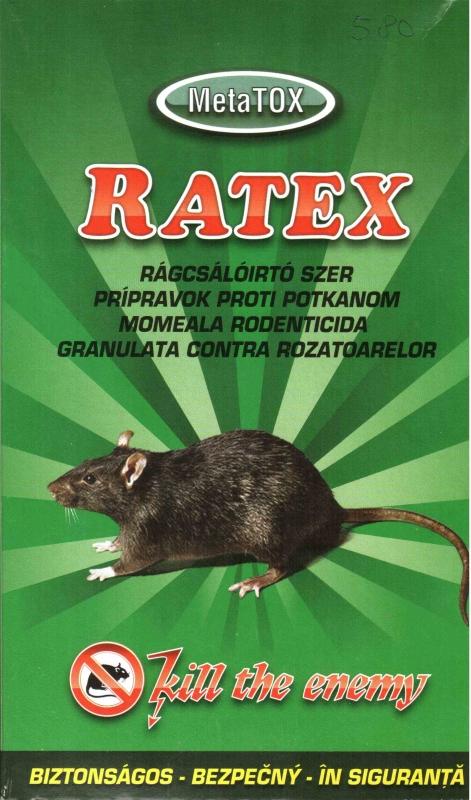 RATEX rágcsálóirtószer granulátum 200g