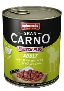 Animonda Gran Carno 400g Nyúl - Gyógynövény ízben