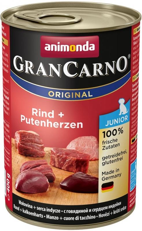 Animonda Gran Carno Junior 400g Marha - Pulykaszív ízben