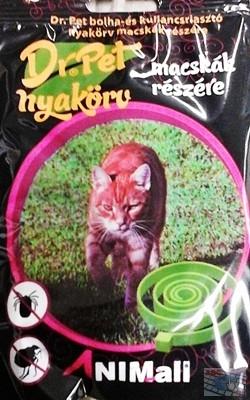 """Dr.Pet bolha nyakörv cicáknak """"fekete"""""""