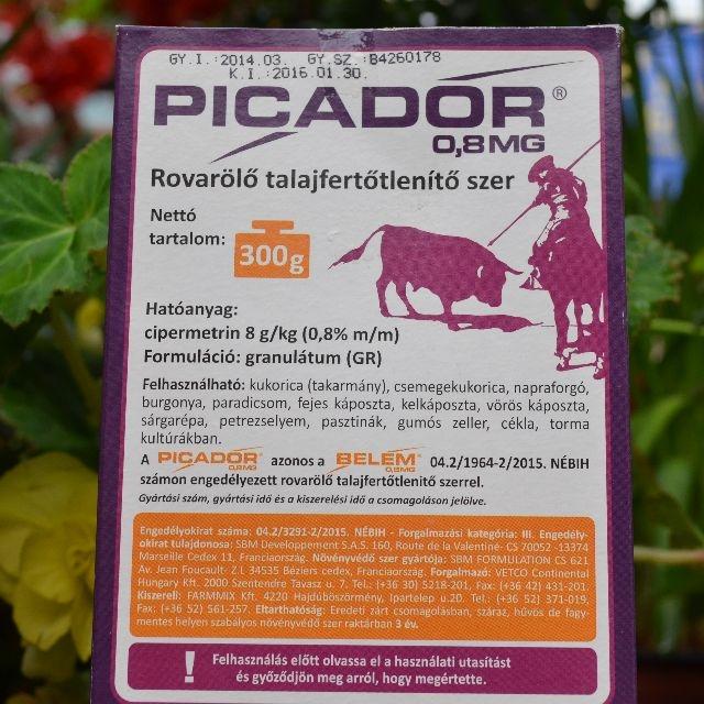 Picador 0,8MG Talajfertőtlenítő 300gr