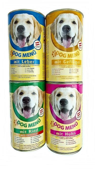 Dog menu 400g kutyakonzerv máj ízesítéssel