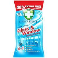 Green Shield nedves törlőkendő 70db  Üveg és Ablak