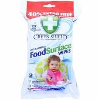 Green Shield nedves törlőkendő 70db  Antibakteriális