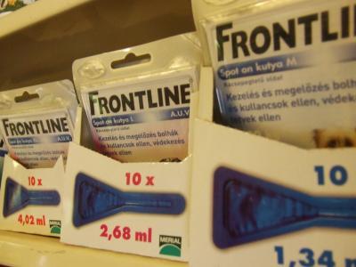 Frontline Csepp (Bolha, Kullancs, Tetű, Atka ellen) S