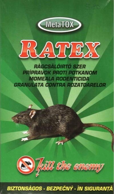 RATEX rágcsálóirtószer granulátum 400g