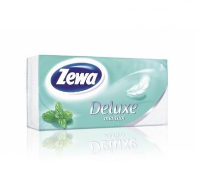 Zewa Deluxe papír zsebkendő GREEN MINT