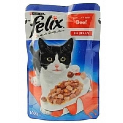 Felix alutasakos macskaeledel, Marha ízesítéssel 100g.