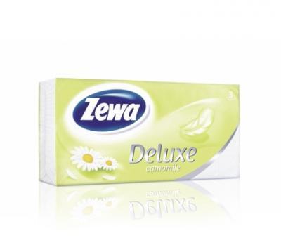 Zewa Deluxe papír zsebkendő Kamilla