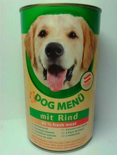 Dog Menü 1240 g Marha ízben