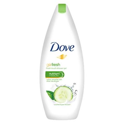 Dove Go Fresh uborka és zöld tea illatú bőrtápláló krémtusfürdő