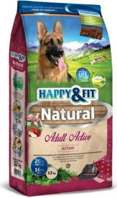 Happy & Fit Natural Active kutyatáp 12 kg