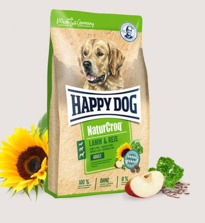 Happy Dog Natur Croq Lamm/Reis  4 kg