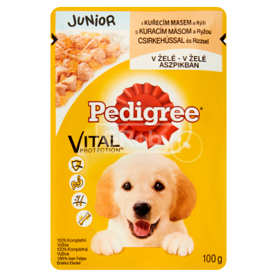 Pedigree Junior 100 g Csirke-Aszpik ízben