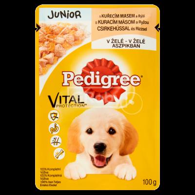 Pedigree Junior 100 g Csirke-Aszpik ízben