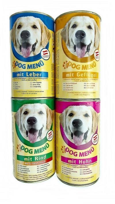 Dog menu 400g kutyakonzerv baromfi ízesítéssel