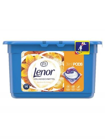 Lenor 3in1 Silk  mosókapszula - 14 db