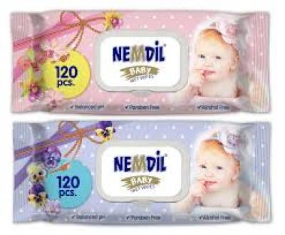 Nemdil baby törlőkendő 120db