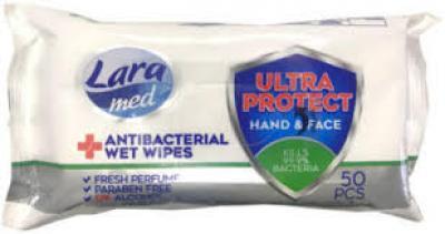 Lara med 50db Antibakteriális törlőkendő